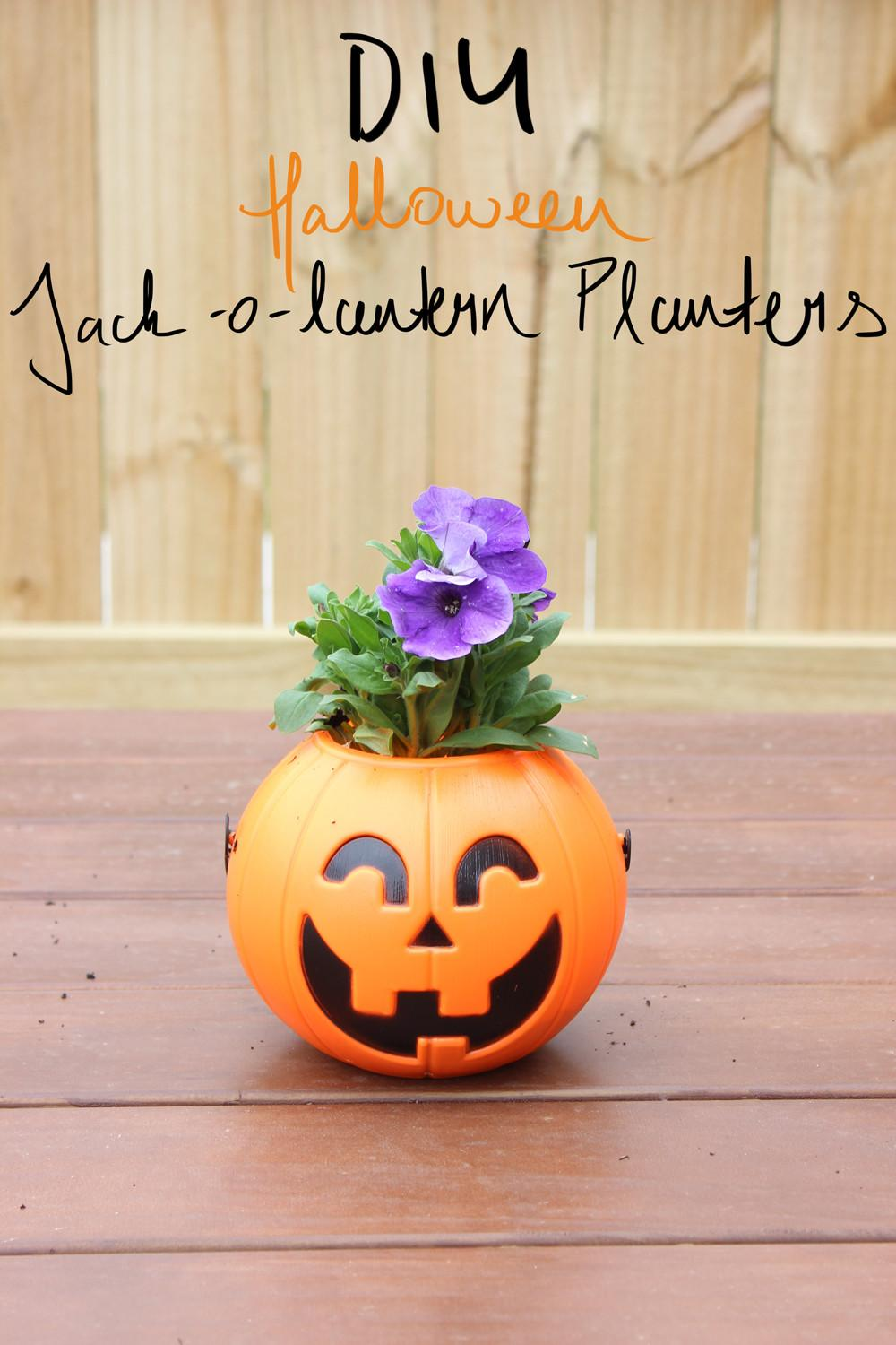 Halloween Jack Lantern Planter Lovely Look