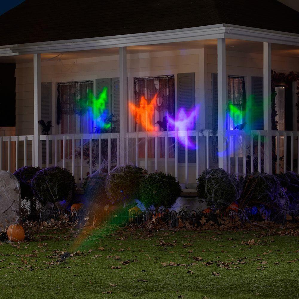 Halloween Led Chasing White Ghosts Light Effect Projector