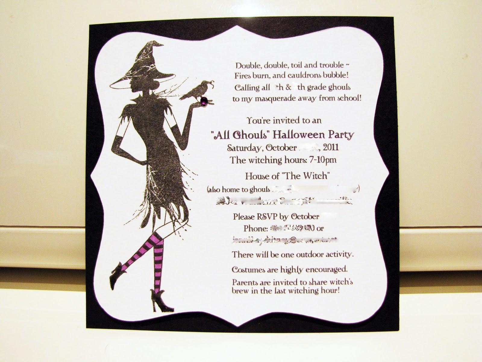 Halloween Party Invitation Wording Theruntime