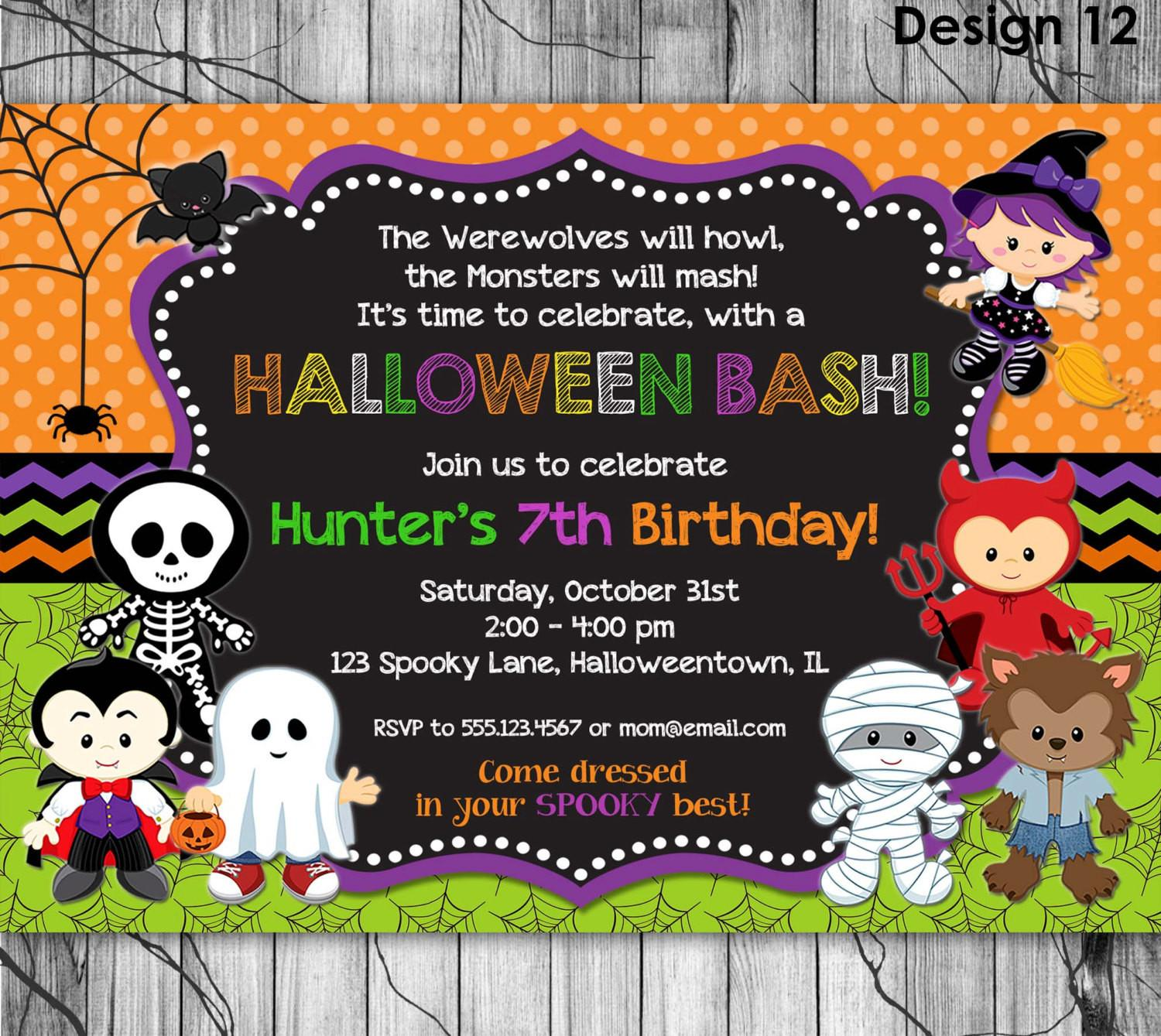 Halloween Party Invitations Email All Ideas