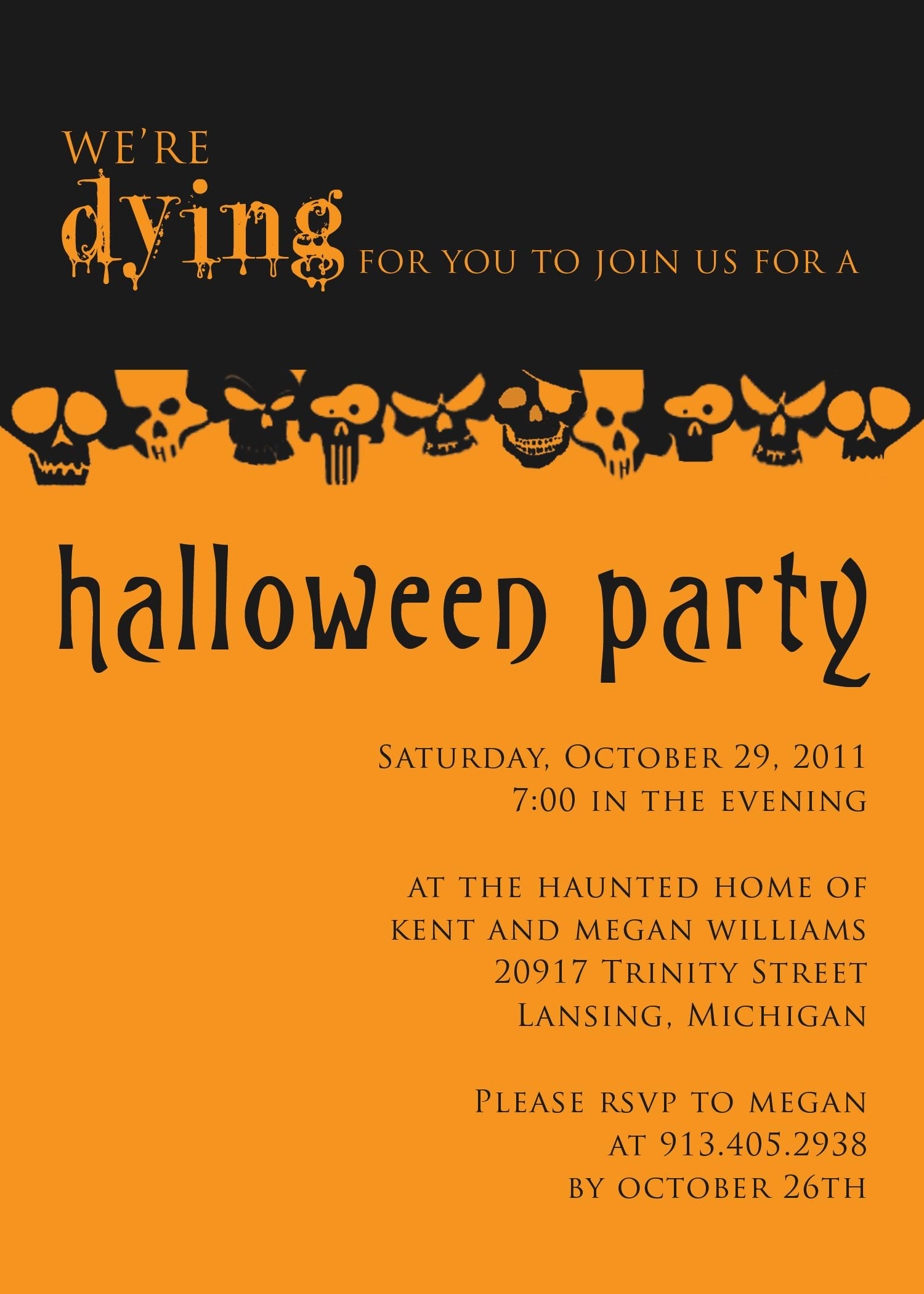 Halloween Party Invitations Templates Theruntime