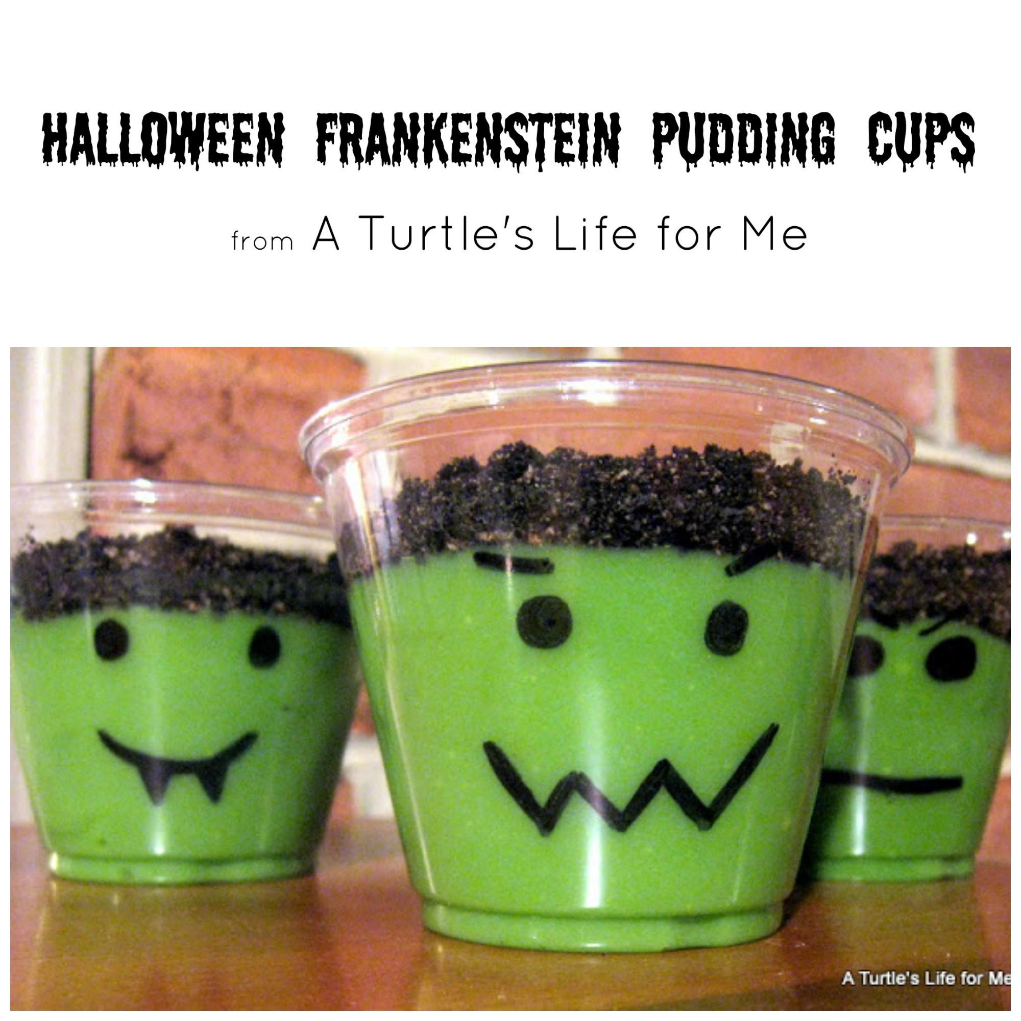 Halloween Pudding Cups Turtle Life