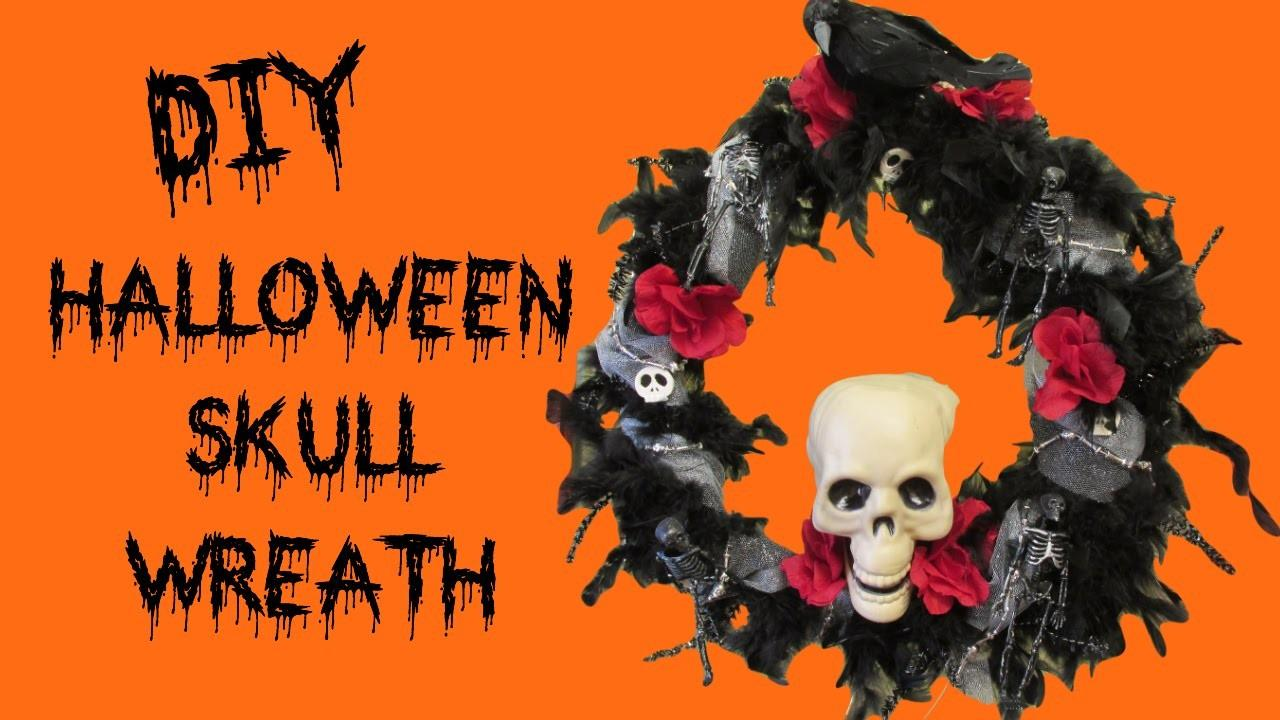 Halloween Skull Wreath Diy