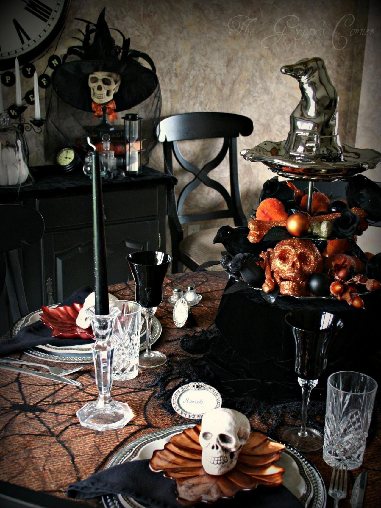 Halloween Table Decorations Settings Entertaining