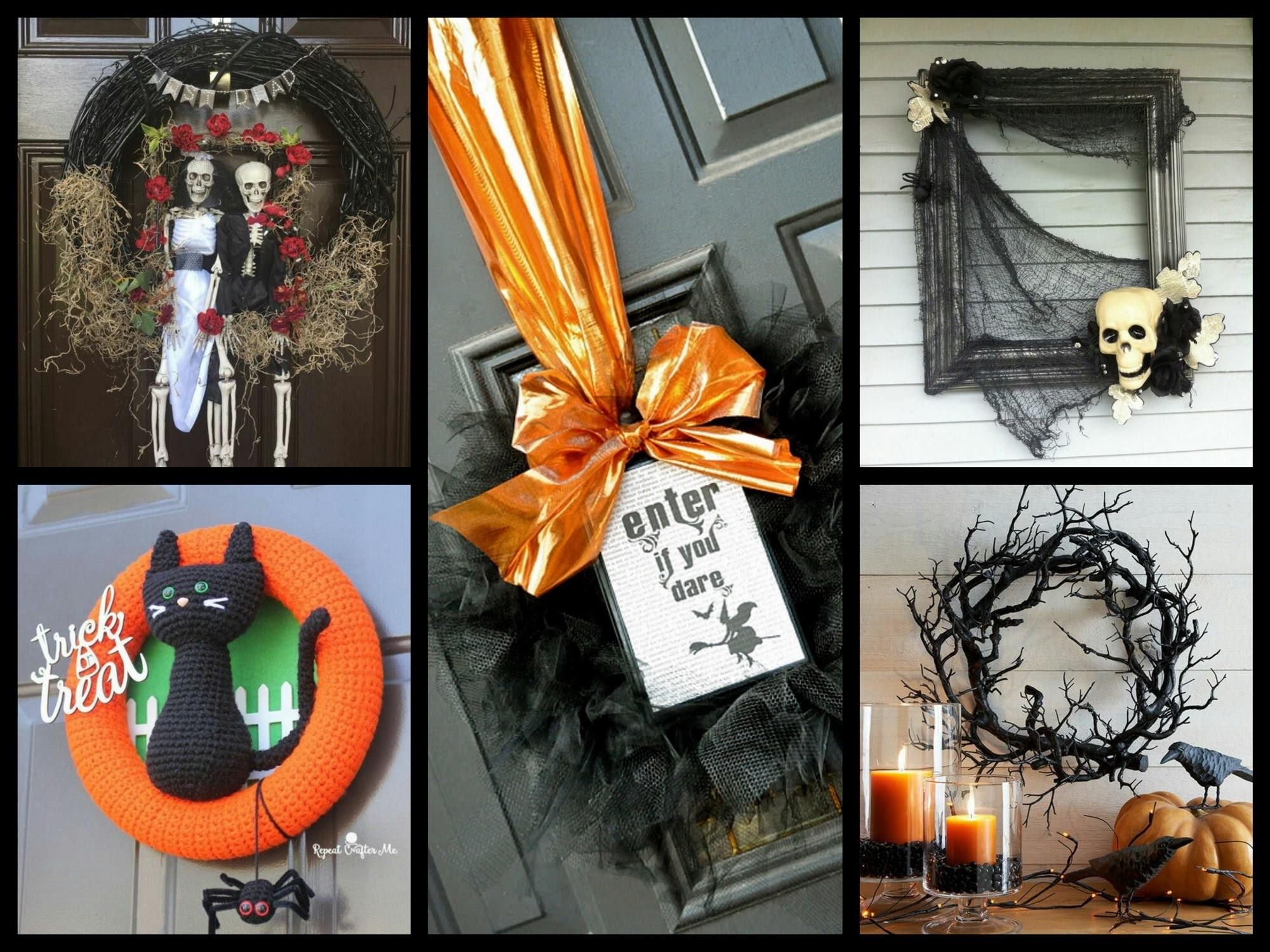 Halloween Wreath Diy Inspiration Decorating