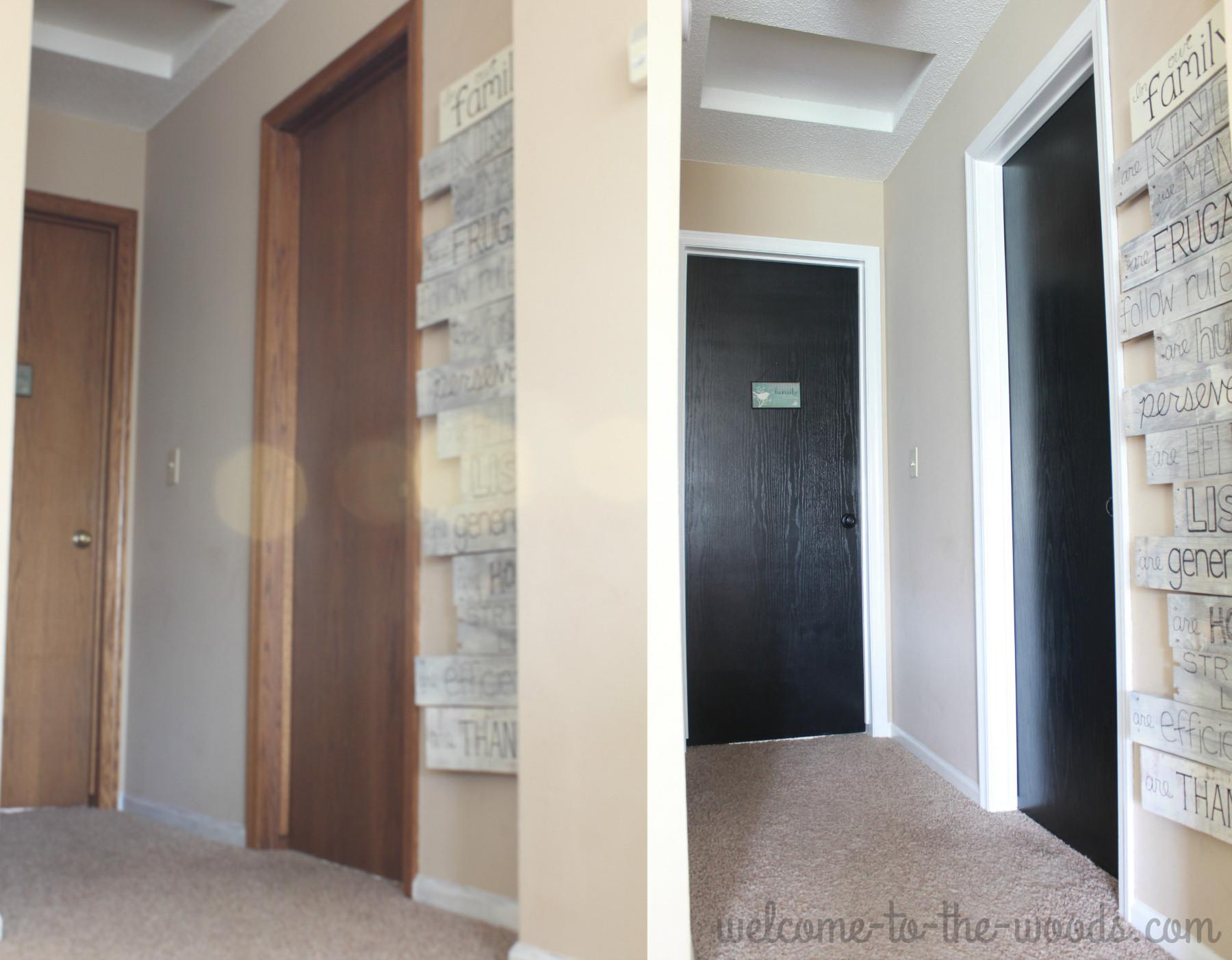 Hallway Makeover White Trim Reveal Welcome Woods