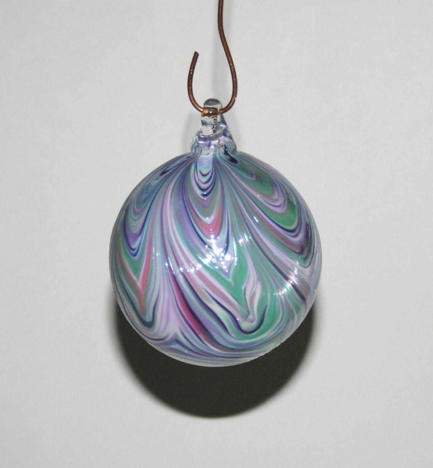 Hand Blown Glass Christmas Ornaments White Kevinfultonglass