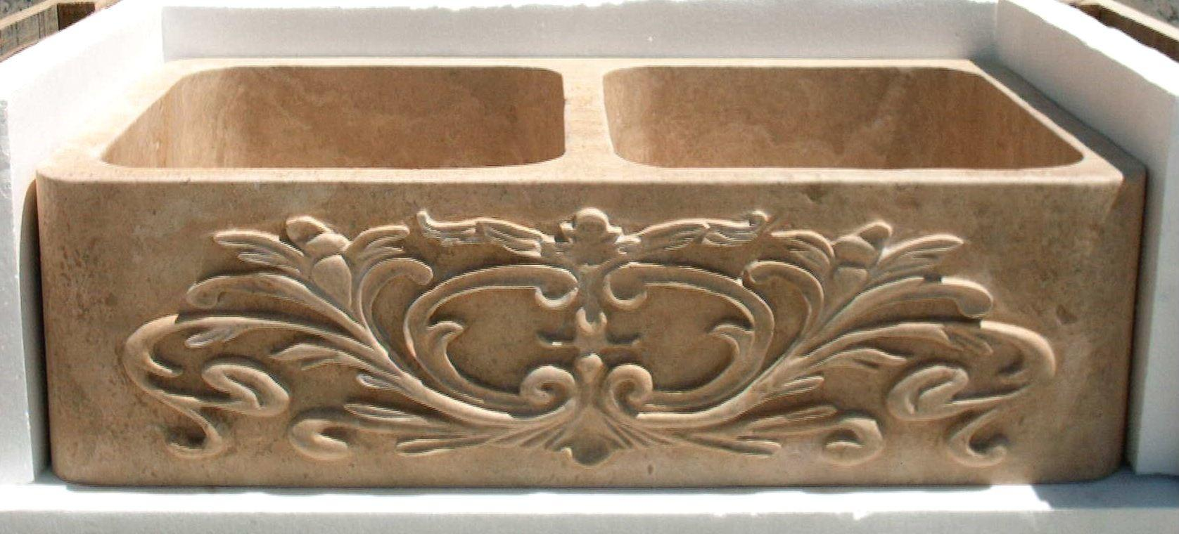 Hand Carved Apron Front Designs Stone Kitchen Sinks