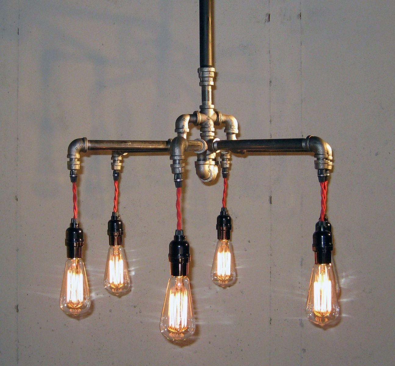 Hand Crafted Industrial Black Malleable Iron Bulb