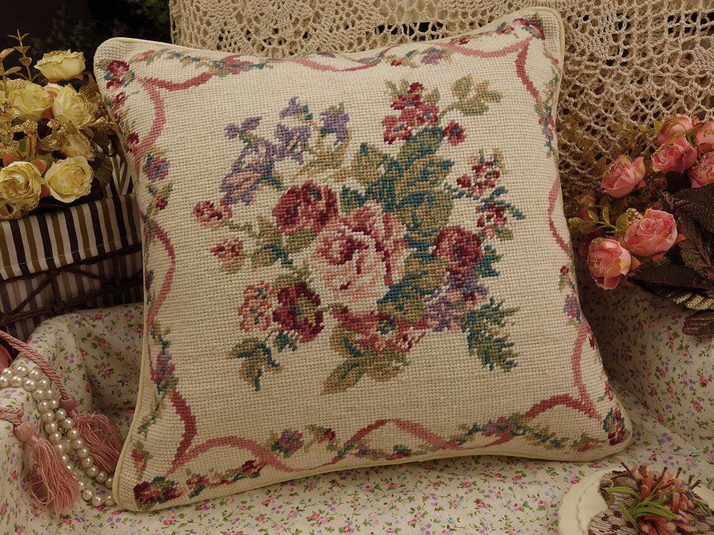 Hand Crafted Interior Decorative Pillow Camellia