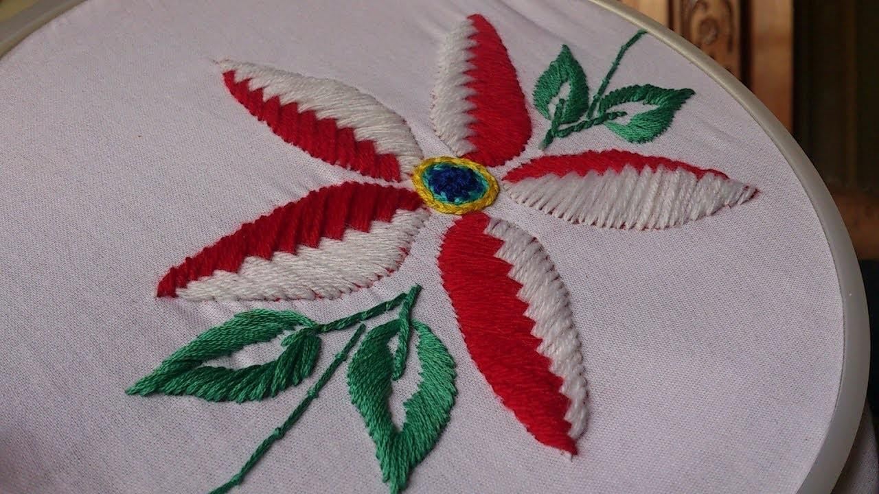 Hand Embroidery Designs Beautiful Flower Stitch