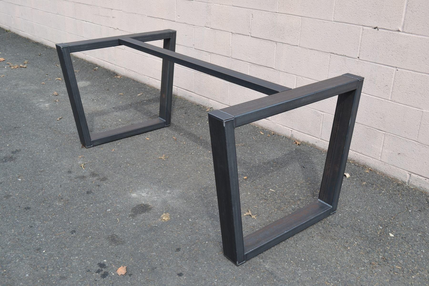 Hand Made Industrial Style Steel Table Base Steeldesign