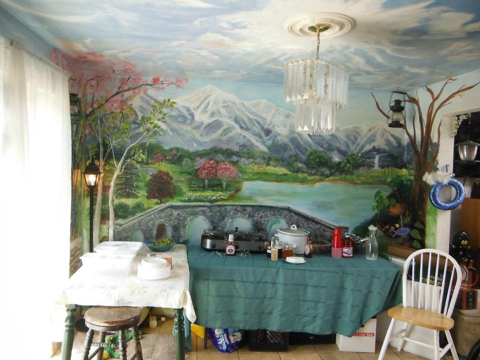 Hand Made Kitchen Dining Room Mural Floor Ceiling