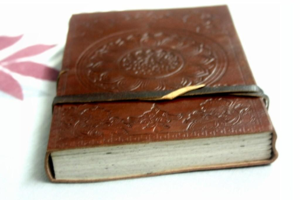 Hand Made Leather Cover Diary Shopping