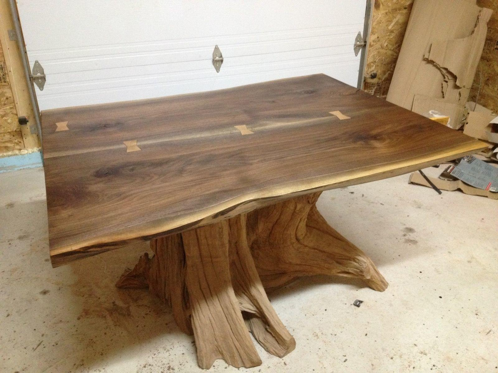 Hand Made Live Edge Black Walnut Dining Room Table Bois