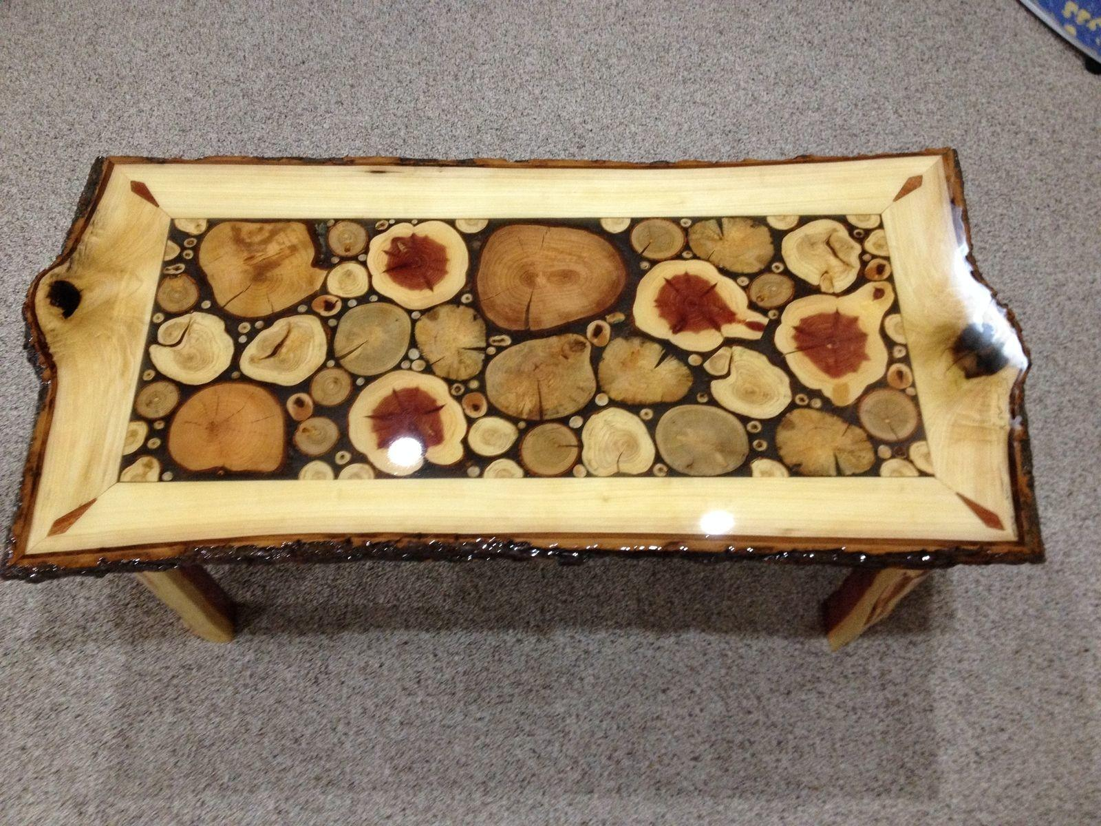 Hand Made Log Slice Coffee Tables Live Edge Woodcrafts