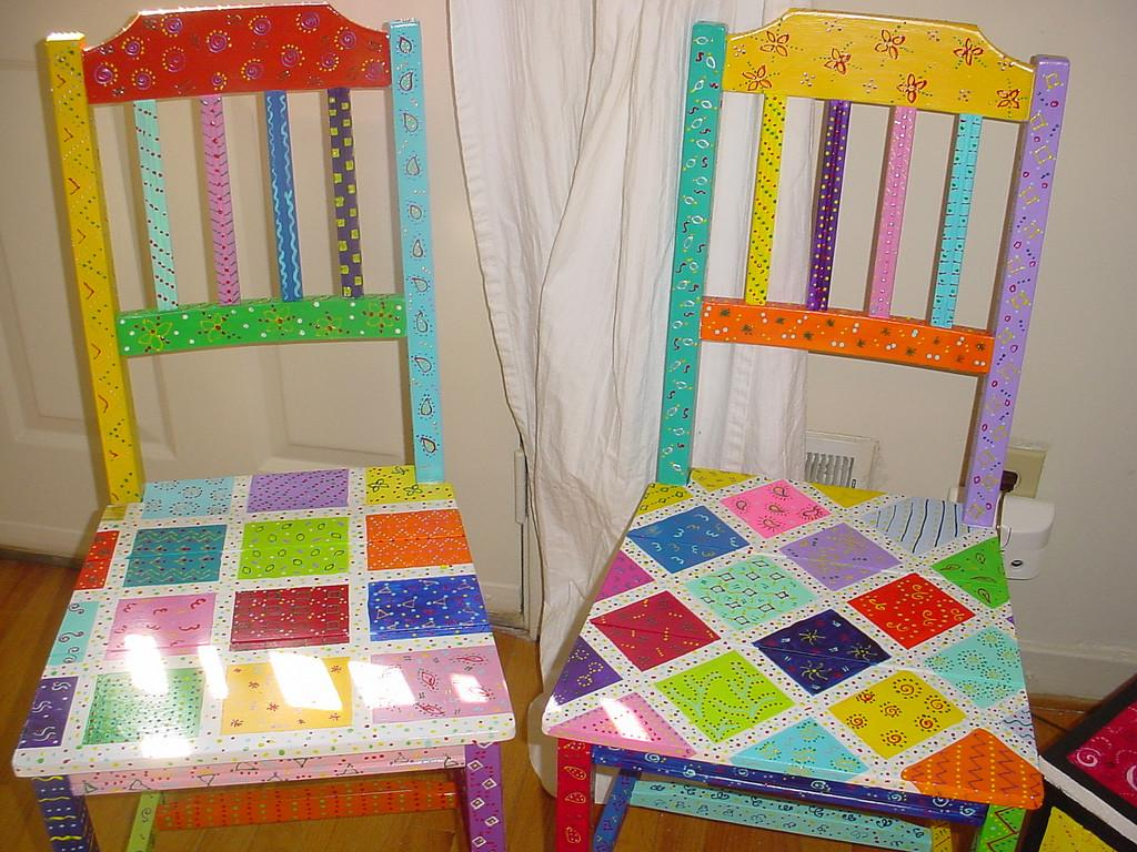 Hand Painted Fairytale Chairs Fun Furniture1 Flickr
