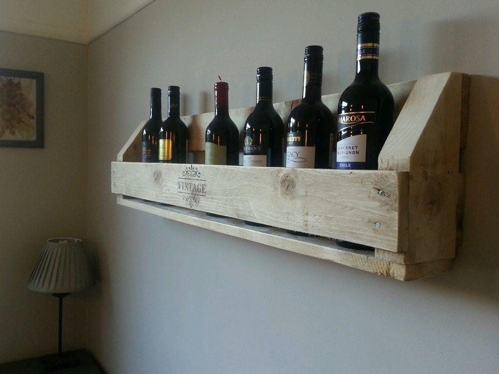 Handcrafted Shabby Chic Pallet Rustic Wood Wine Rack
