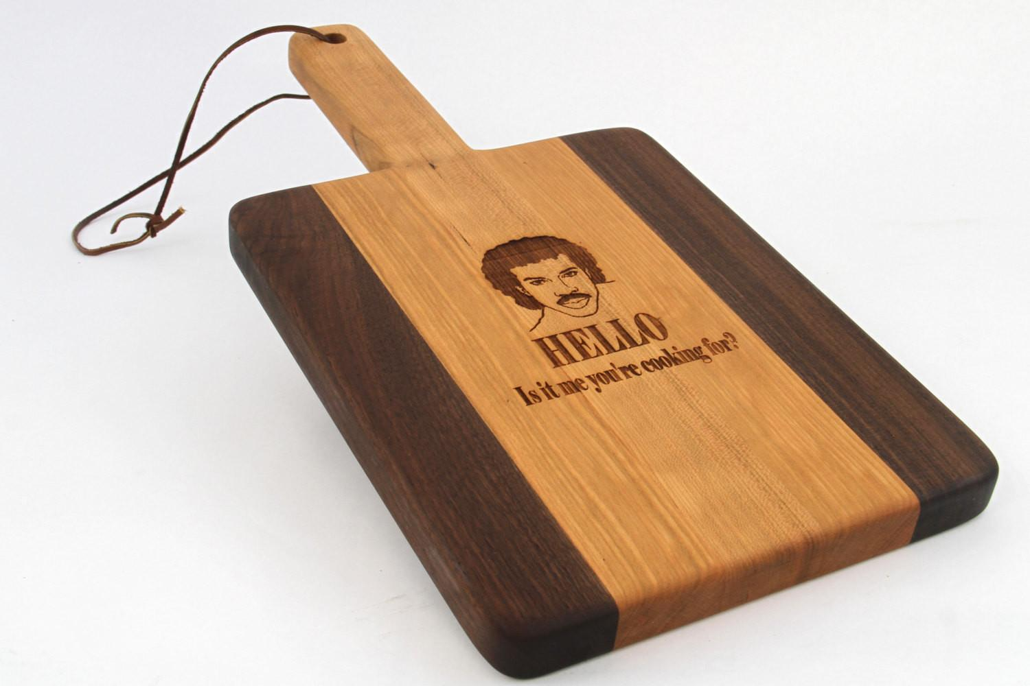 Handcrafted Wood Cutting Board Paddle Cherry Laser
