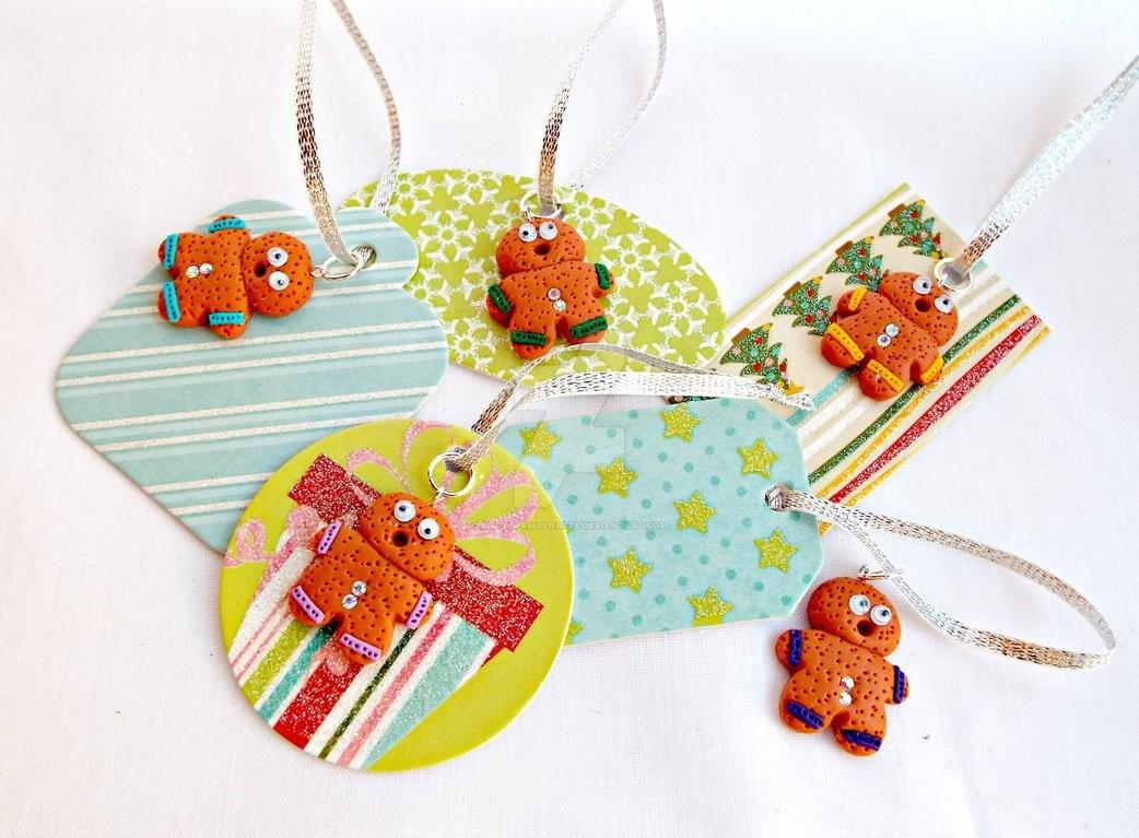 Handmade Christmas Gift Cards Gingerbread Men