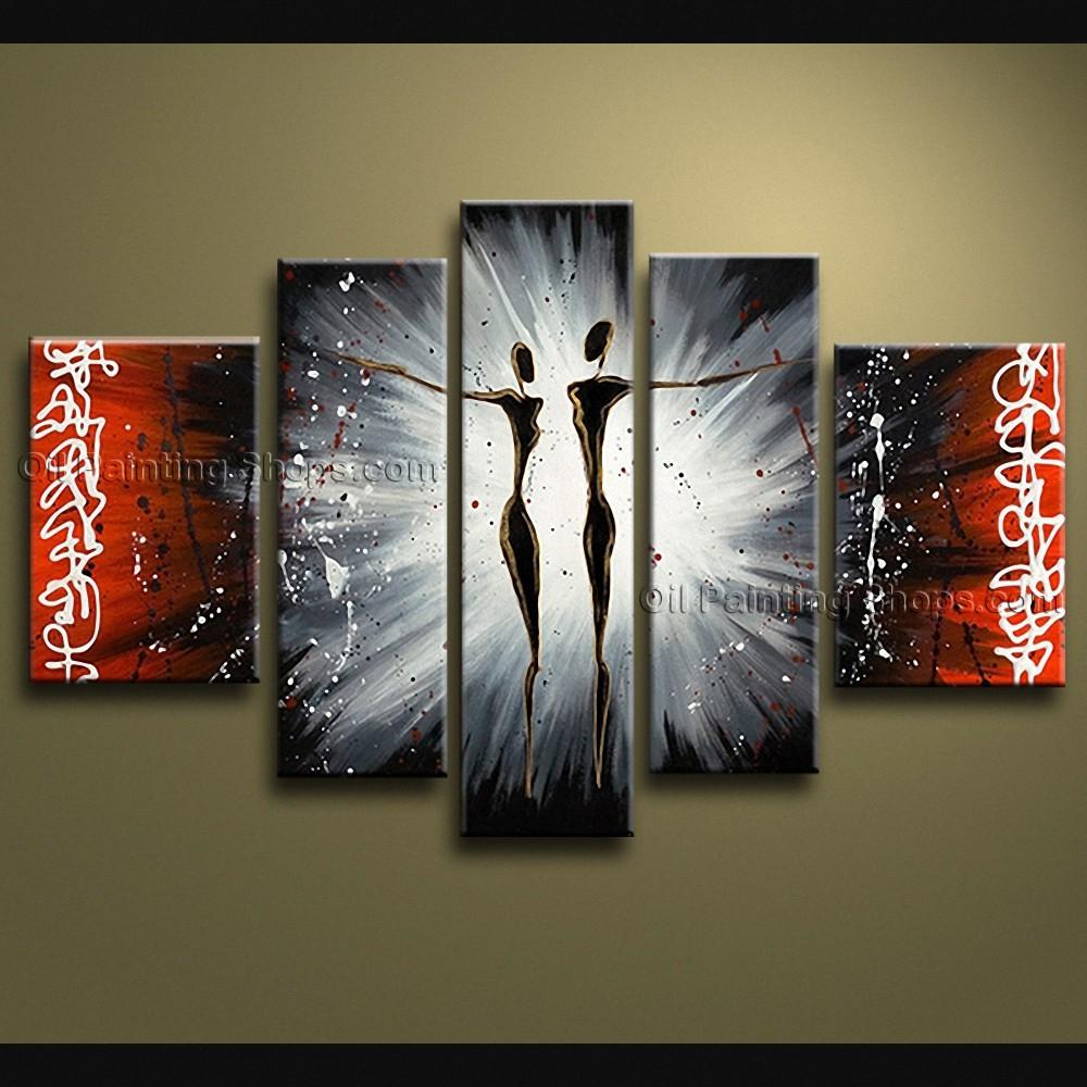 Handmade Large Modern Abstract Painting Wall Art Figure