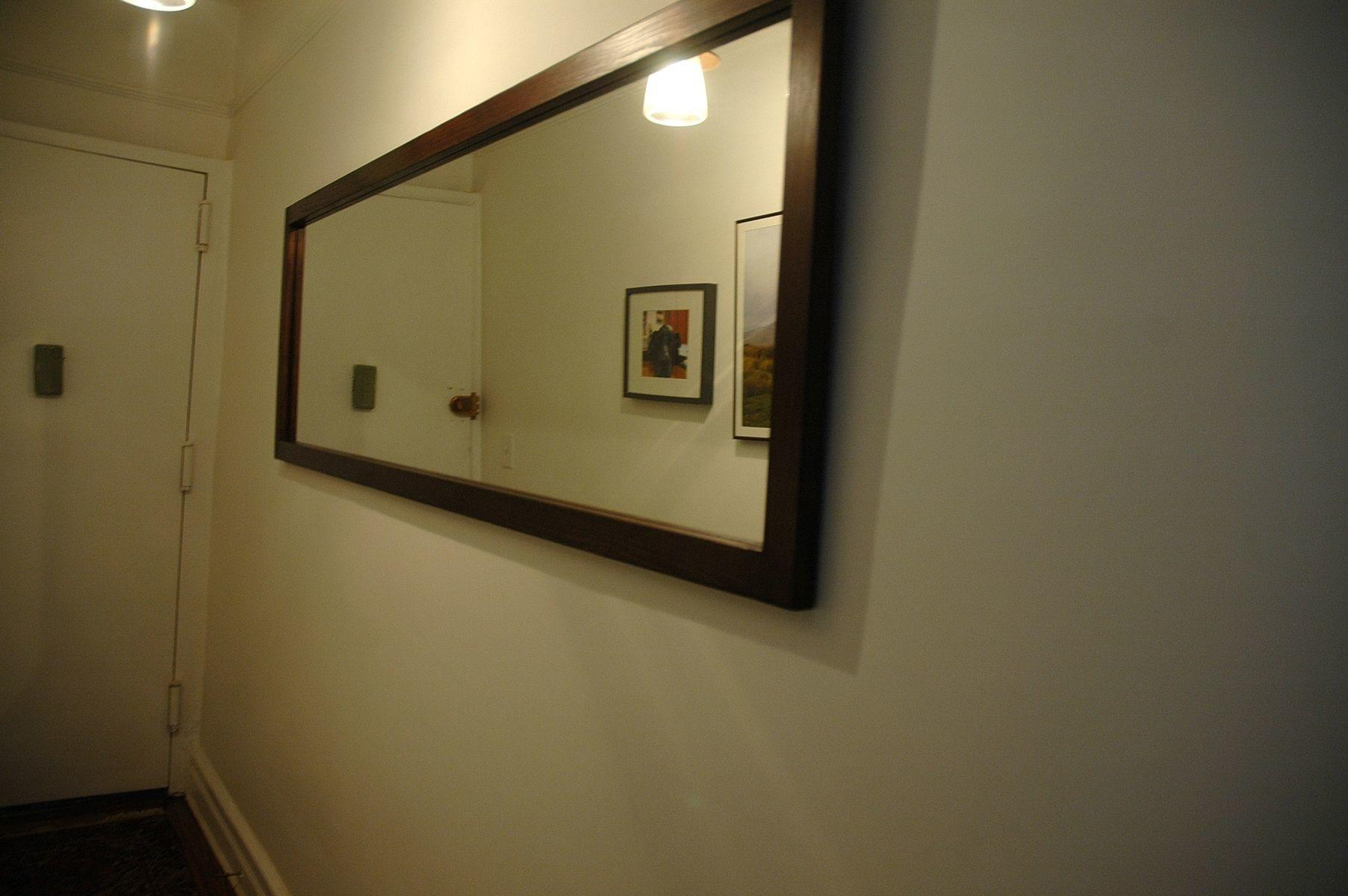 Handmade Long Hallway Mirror Wooden Nice