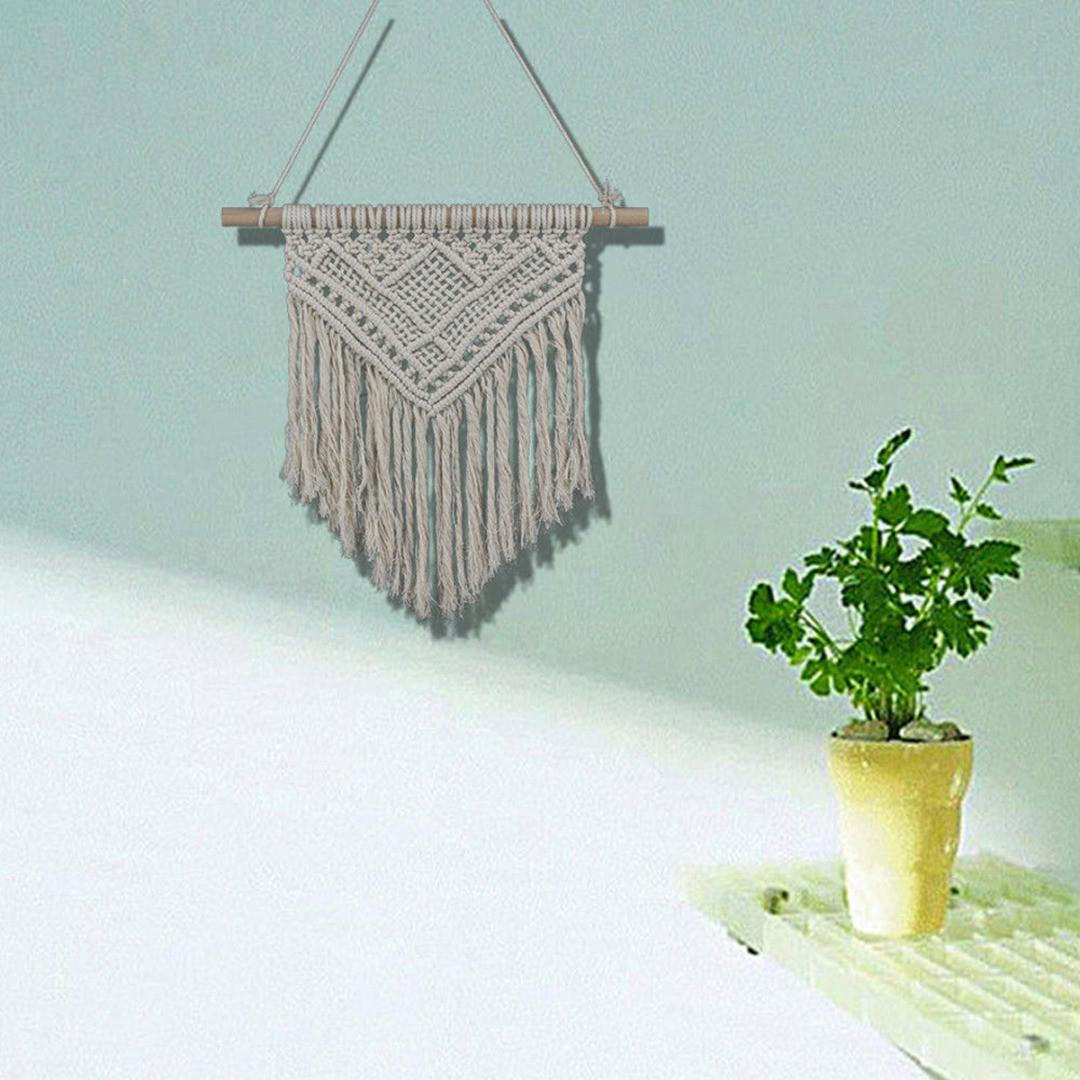 Handmade Macrame Hand Knit Wall Hanging Woven Tapestry
