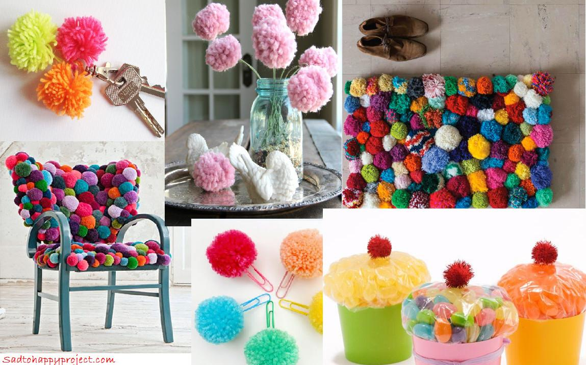 Handmade Pom Decorations Set 300pcs