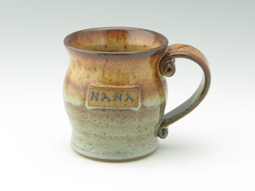 Handmade Pottery Coffee Mug Just Nana Medium Pot