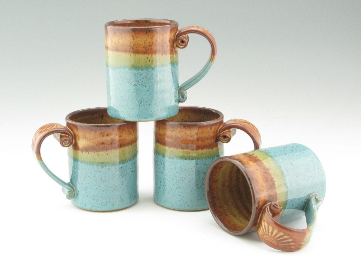 Handmade Pottery Coffee Mug Stoneware Cafe Twistedriverclay