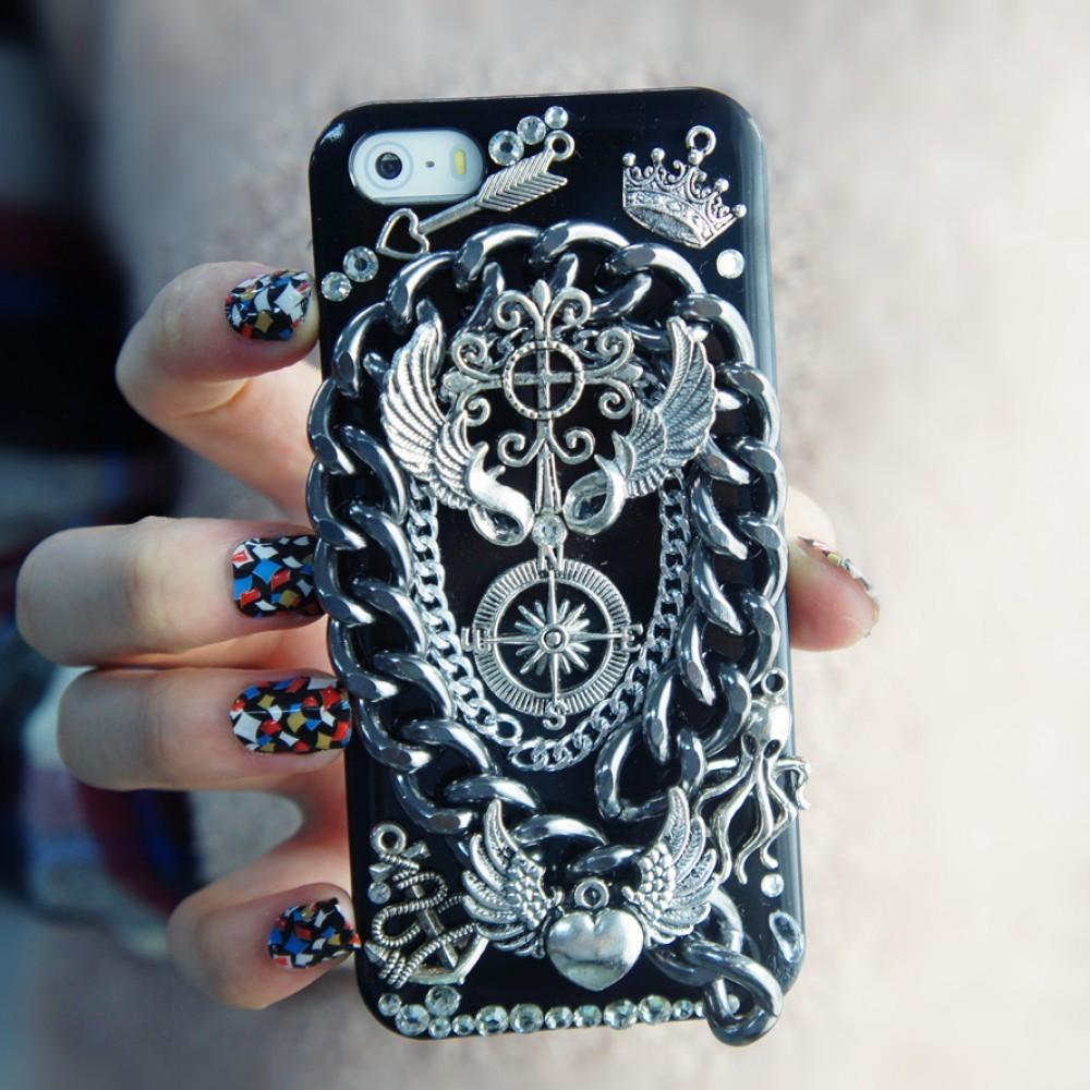Handmade Rock Roll Style Diy Iphone Case