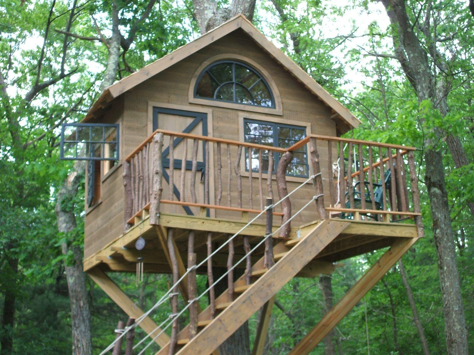 Handmade Whimsical Treehouse Wooden Hammer Llc