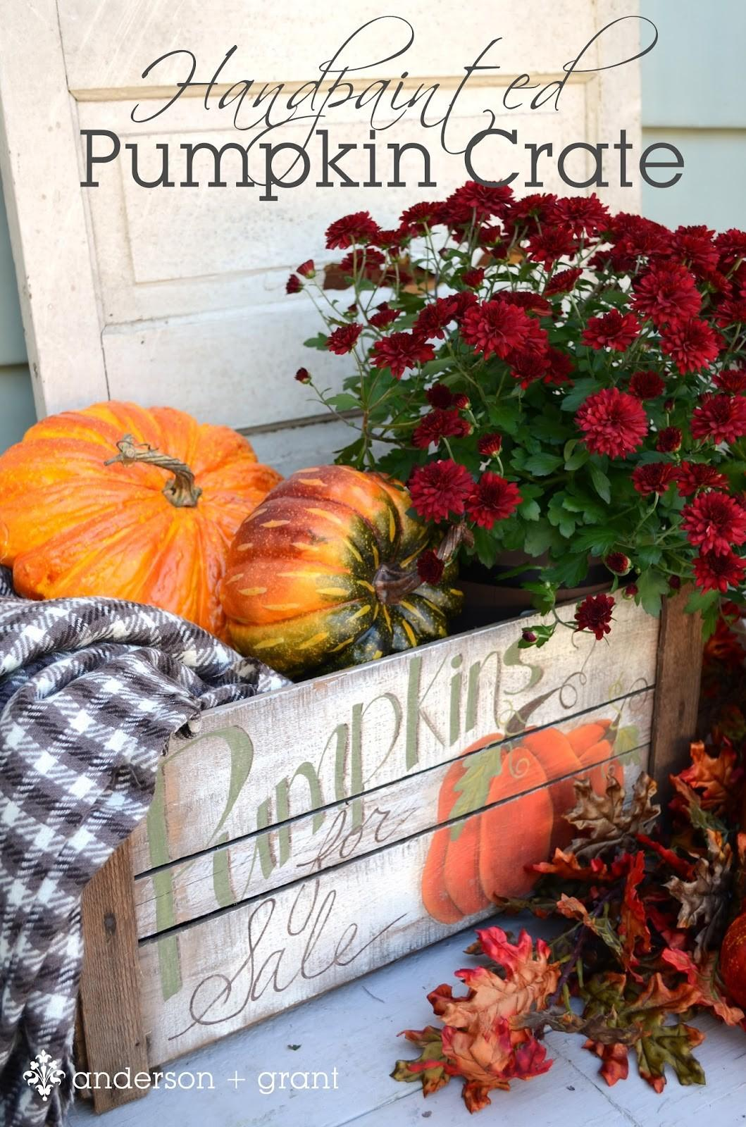 Handpainted Pumpkin Crate Mabey She Made