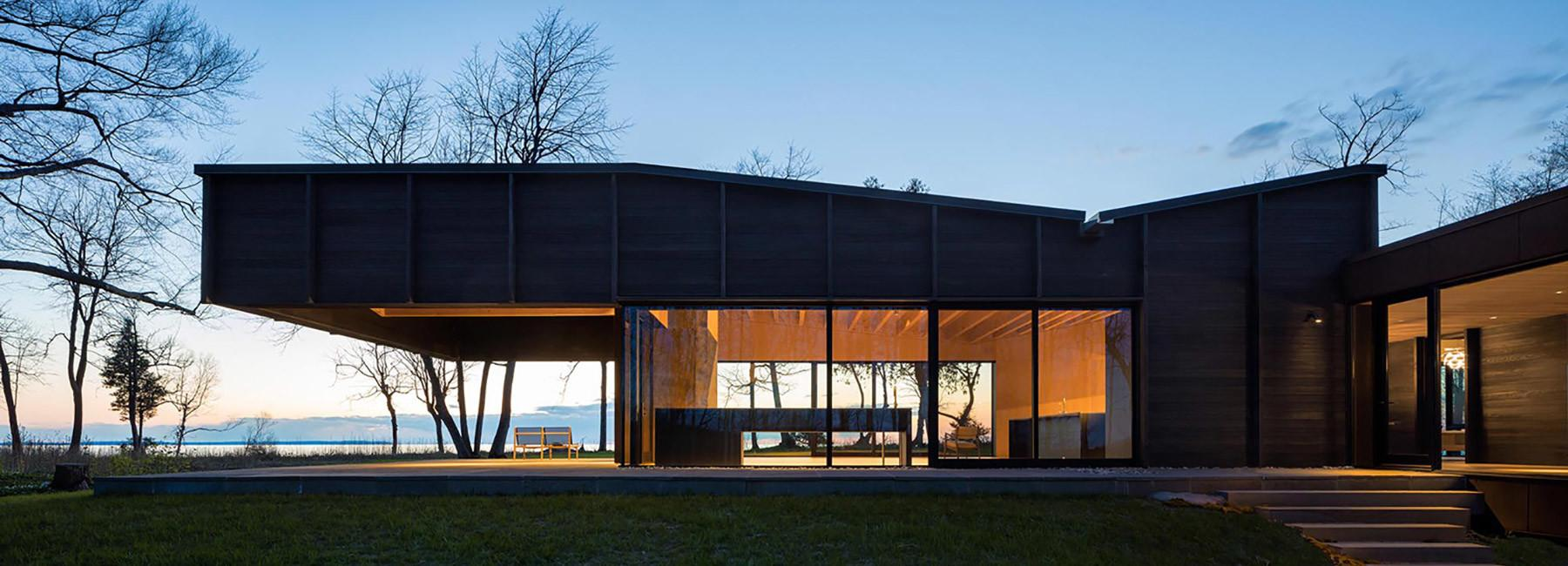Handsome Modern House Perches Above Lake Michigan Curbed