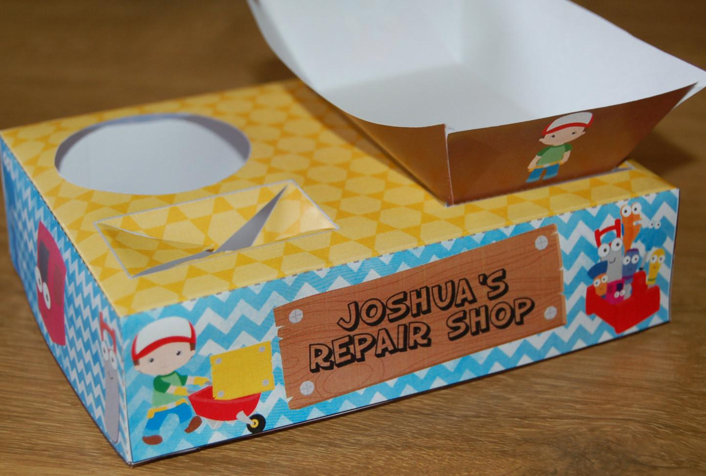 Handy Man Themed Party Food Lunch Box Diy Printable