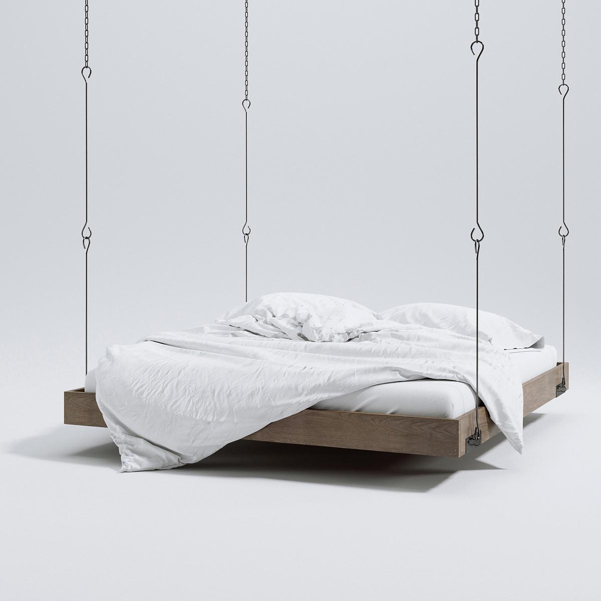 Hanging Bed Triangle Form Models Scenes