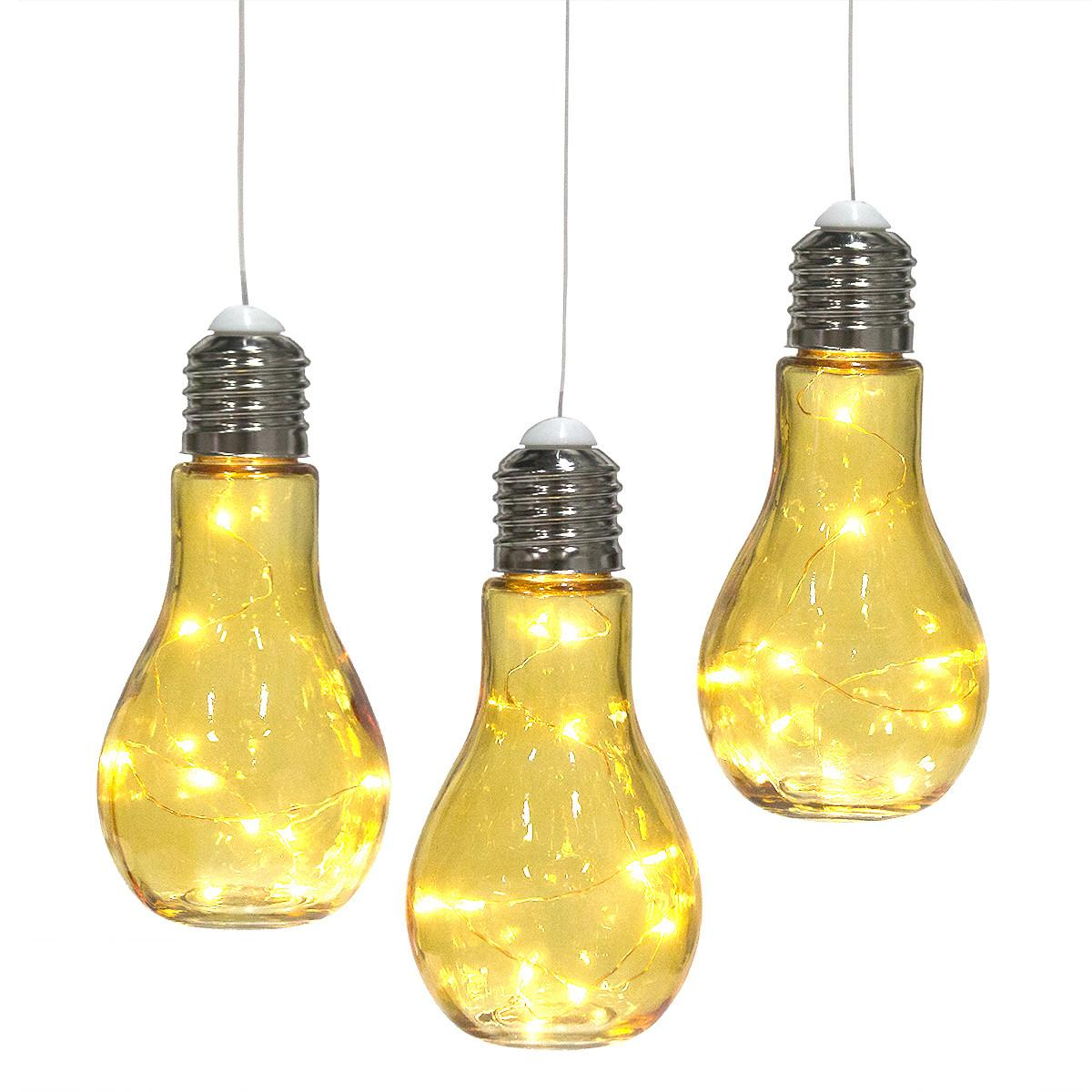 Hanging Bulb Shaped Glass Lanterns Outdoor Pendant Lamps