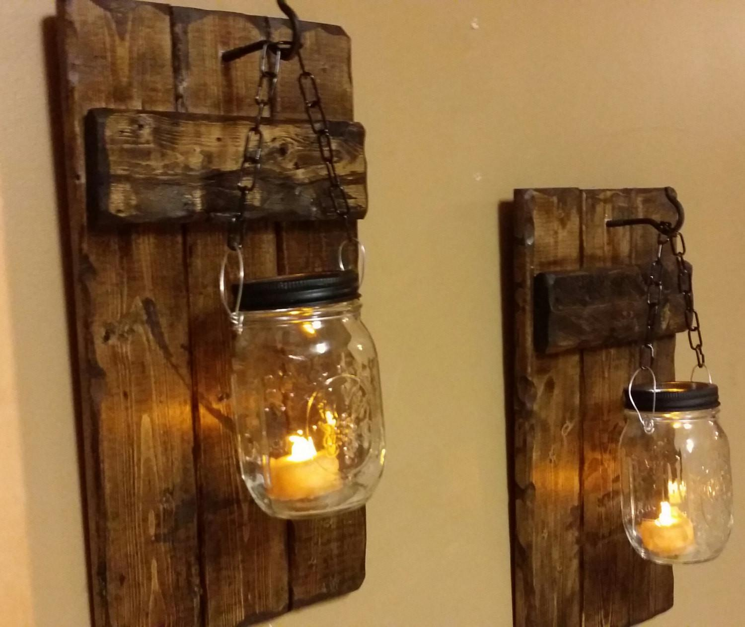 Hanging Candle Holders Rustic Home Decor Sconce