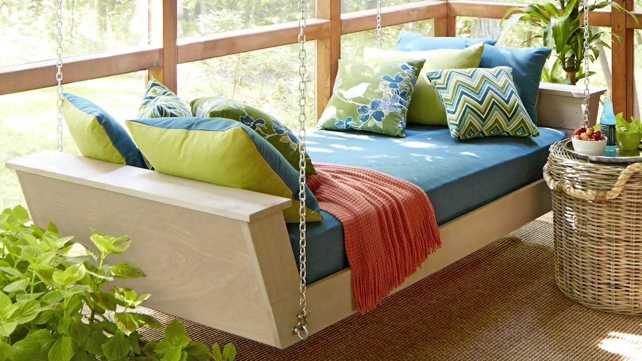 Hanging Daybed Plans