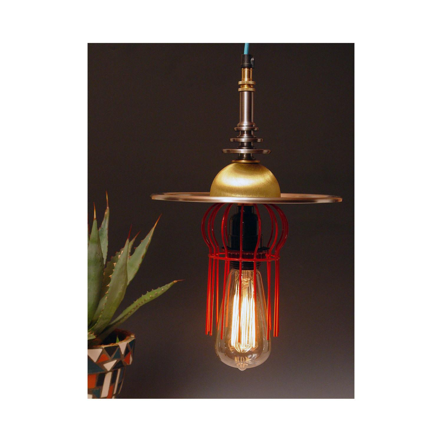 Hanging Lamp Art Deco Atomic Retro Found Objects 211