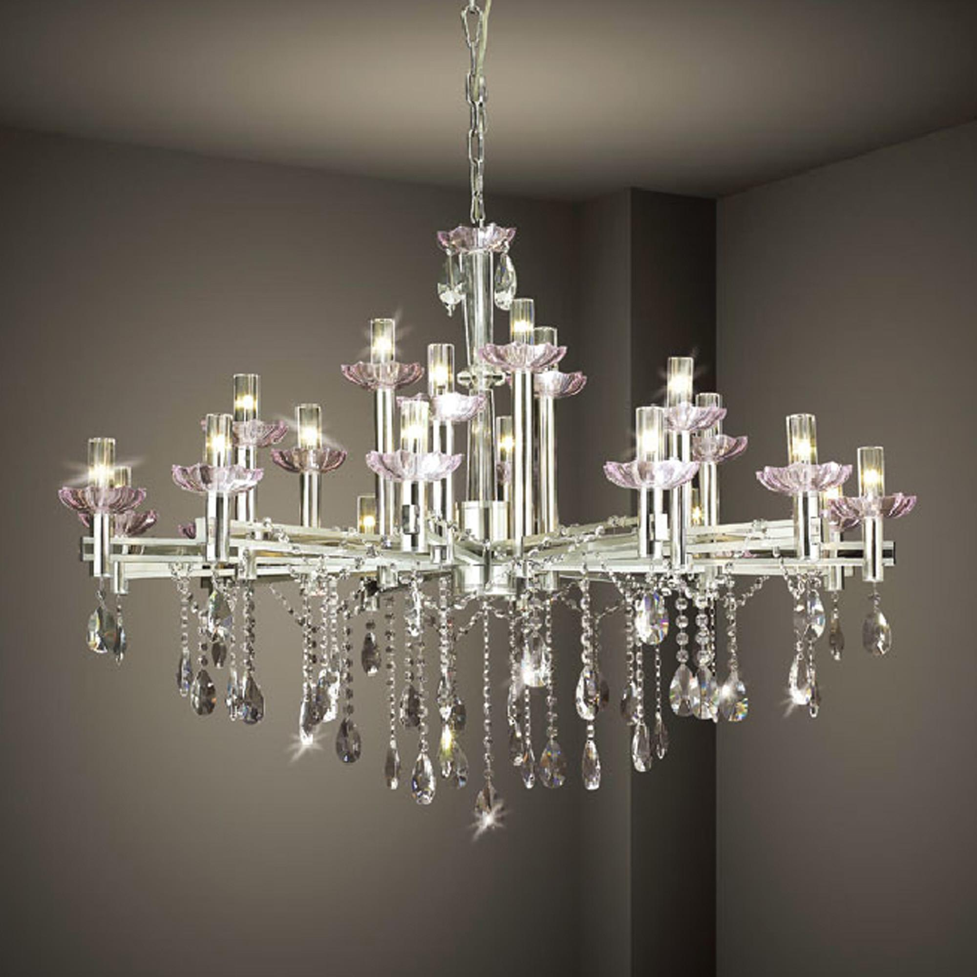 Hanging Modern Crystal Chandelier Lighting Stainless