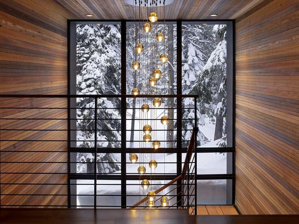 Hanging Pendant Lights Near Stairs