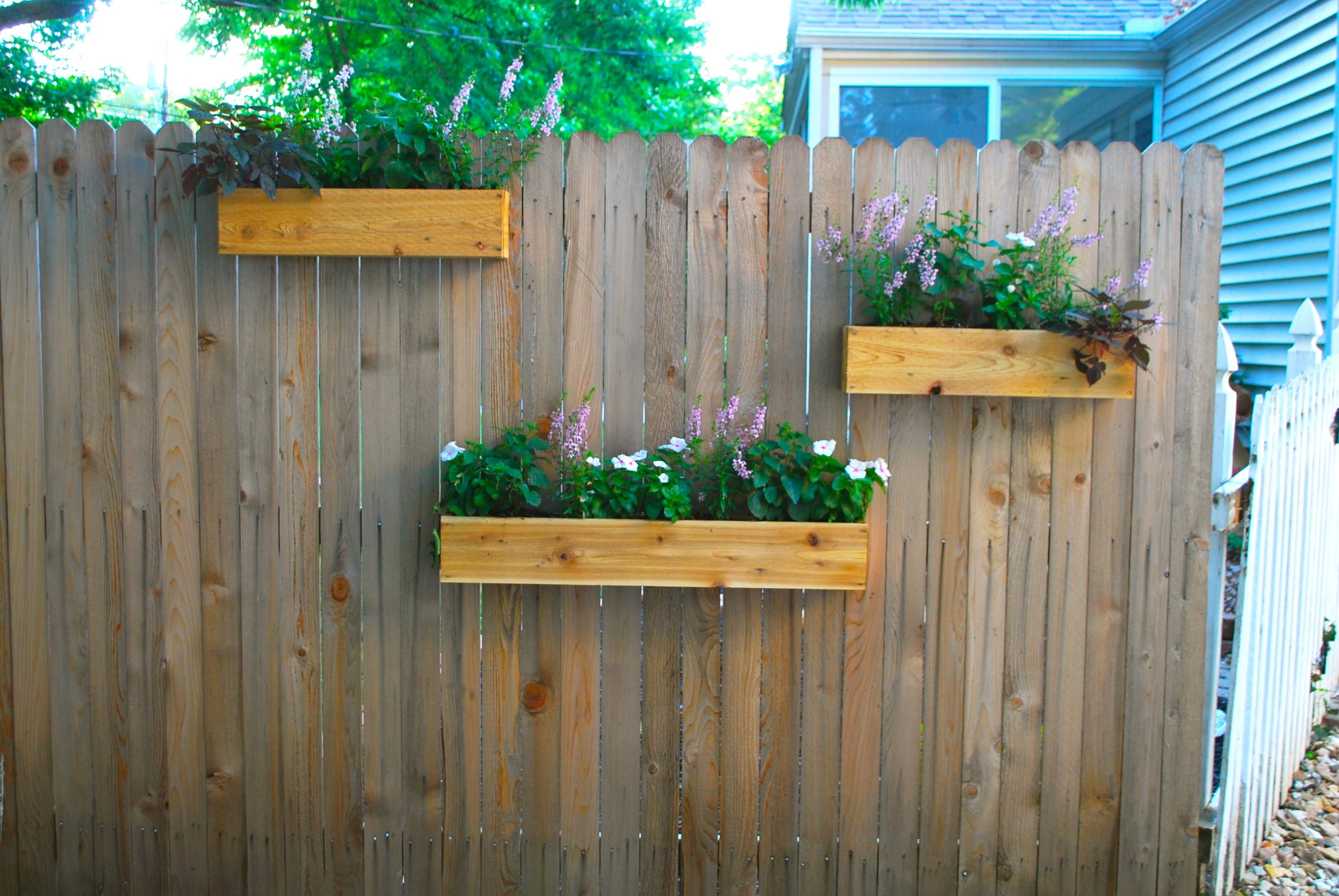 Hanging Planter Boxes Using Reclaimed Various Flower