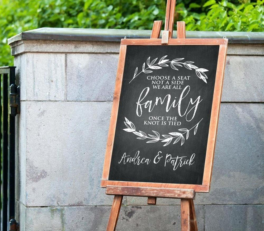 Hanging Slate Chalkboard Choose Seat Wedding Sign