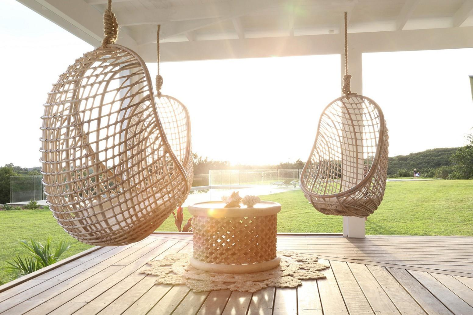 Hanging Wicker Patio Chair Chairs Seating