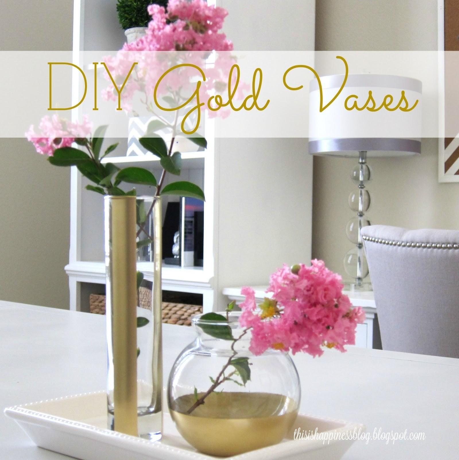 Happiness Diy Gold Vases