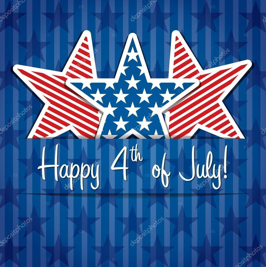Happy 4th July Stock Vector Piccola