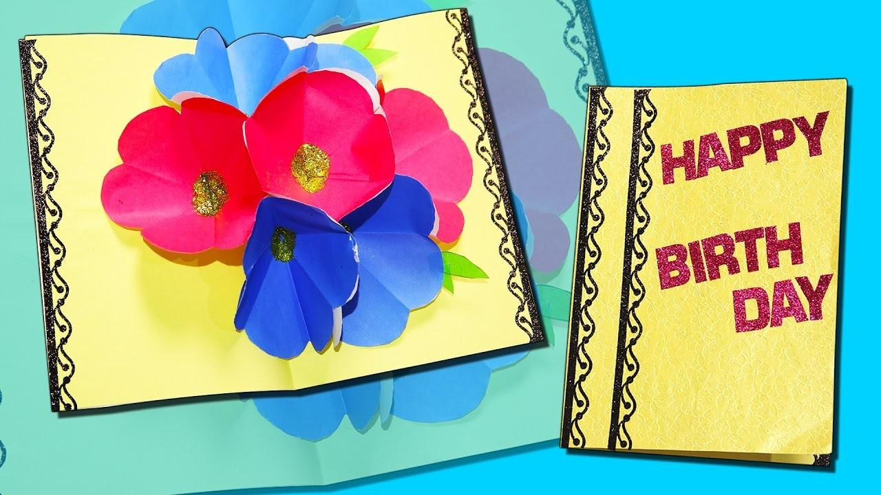 Happy Birthday Pop Card Greeting Diy Craft