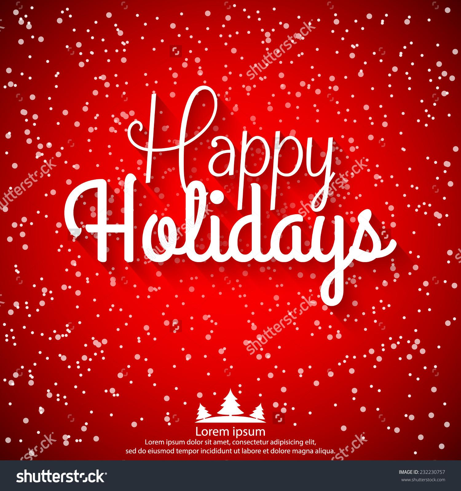 Happy Holidays Banners Clipart