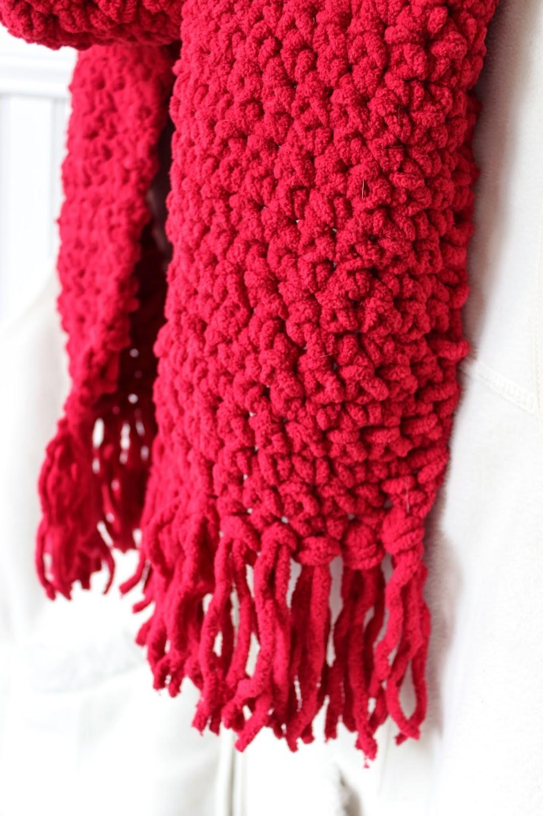 Happy Home Cozy Crocheted Scarf